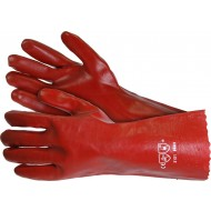 """Red PVC Gauntlets 14"""" Long (Pack of 2 Pairs) - WS41"""
