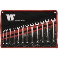 12-Piece 8-19 mm Ratchet Spanner Set(8009-ww) - WW8009
