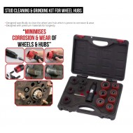 Welzh Stud Cleaning and Grinding Kit for Wheel Hubs; 16pcs
